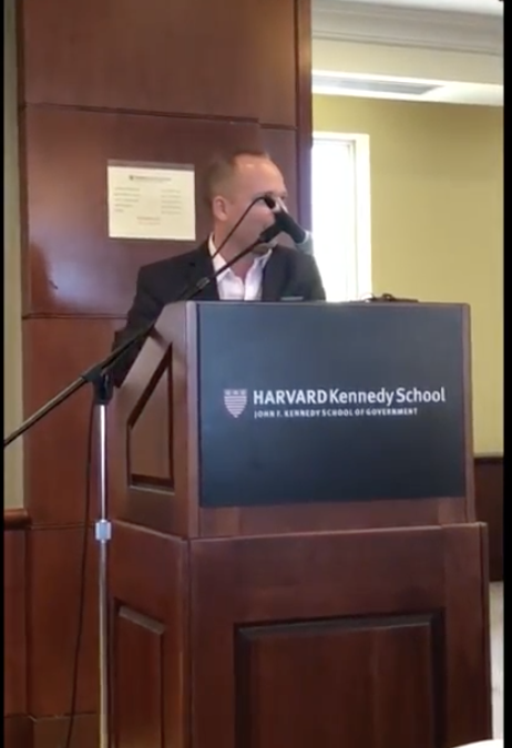Niels Planel's farewell to the Harvard Kennedy School MC MPA '18